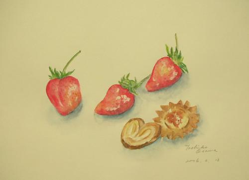 155 苺とクッキー