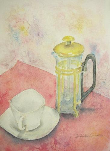 267 ティーサーヴァーと妙な形のカップ&ソーサー