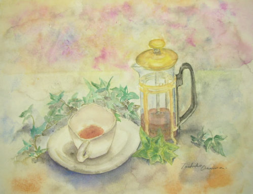 268 ティーサーヴァーと妙な形のカップ&ソーサー