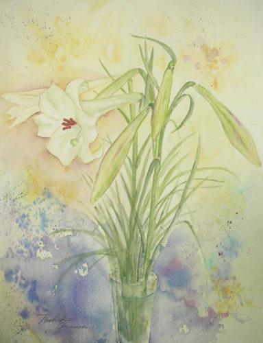 296 野生のユリの花