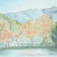 34 日没前の由布岳と金鱗湖
